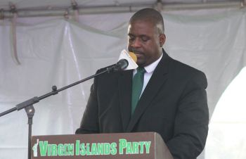Opposition Leader Hon Andrew A. Fahie (R1) has been spearheading calls for a breakdown of how the $65M loan from the Caribbean Development Bank (CDB) will be spent. Photo: VINO/File