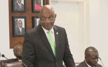 The whole disagreement started when the Leader of the Opposition posited a question to the Minister for Natural Resources, Labour and Immigration, Honourable Vincent O. Wheatley (R9) over the proposed changes to the Immigration and Passport Act. Photo: VINO