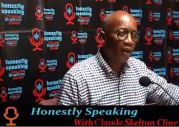 Prime Minister of the Federation of St Kitts and Nevis Dr the Honourable Timothy S. Harris was yesterday, May 21, 2020, interviewed on the popular talk show, Honestly Speaking hosted by Claude O. Skelton Cline (in photo) on local radio station ZBVI 780 AM. Photo: Facebook