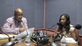 Mr Claude O. Skelton-Cline, left, and Ms Ayana S. Hull, right, during the radio show Honestly Speaking on May 8, 2018. Photo: Facebook