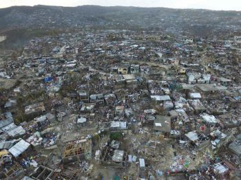 The town of Jeremie in western Haiti was almost completely destroyed. Nicola Garcia/AFP/Getty Images