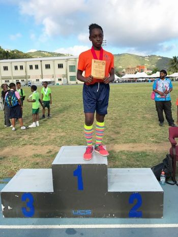 The Victrix Ludurom was K'Zariah Harrigan of Alexandrina Maduro Primary School. Harrigan scored 28 points. Photo: Provided
