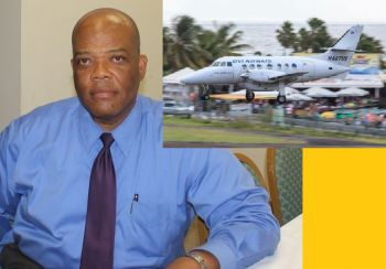 BVI Tourist Board Chairman Russell Harrigan (left) was part of the Government team that announced on January 12, 2016 that the NDP Administration would bailout BVI Airways with a $7M upfront investment in order to help with air access and direct flights from Miami to the VI. Photo: VINO/File