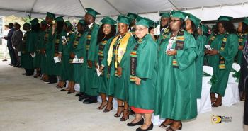 A section of the graduating class at the ceremony held on Thursday June 28, 2018. Photo: Dean H. Greenaway aka The Sportsman
