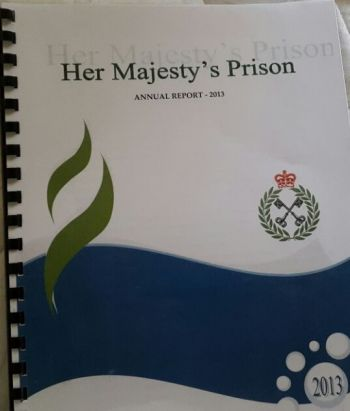 The 2013 HMP Annual Report which was laid on the Table of the House of Assembly on February 12, 2015. Photo: VINO