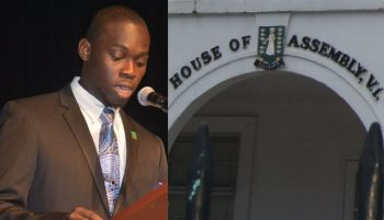 The re-established Youth Parliament of the Virgin Islands, headed by Premier 'Hon' Sonniel O. Pickering (left) will meet for the third time on June 15, 2016 at the House of Assembly chambers in Road Town. Photo: Provided/VINO/File