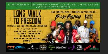 The Long Walk To Freedom Concert featuring Jamaican artiste Buju Banton, born, Mark Anthony Myrie, to be held on June 15, 2019 at Festival Grounds is expected to draw some 8000 guests to the Virgin Islands. Photo: Provided