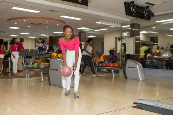 Mindy Paul bowling out cancers. Photo: Provided