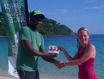 The second place finisher for women in the Beef Island Leg of the Ceres 10K Series was Sarah Hayes (right). Photo: VINO