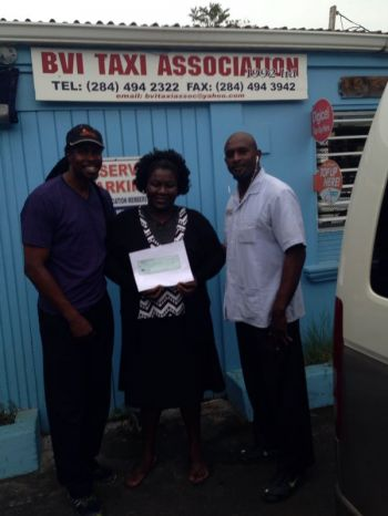 The BVI Taxi Association (BVITA) recently presented a cheque valued $200 to the Rainbow Home as part of its community relations improvement programme. Photo: VINO
