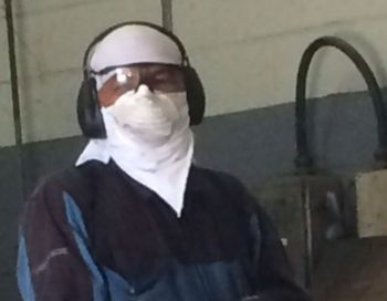 Staff had to resort to temporary measures of suiting out themselves as it they were doctors dealing with Ebola patients or as if they were chemists working in a cyanide plant. And they did not fail to bring their grievances to their management's attention. Photo: Provided