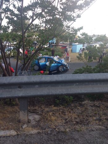 A view of this morning's accident scene. Photo: Team of Reporters