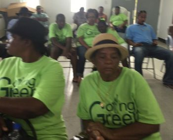 Some of the persons at the meeting hosted by the Ready Committee at the Emile E. Dunlop Community Centre in Anegada on April 19, 2015. Photo: Team of Reporters