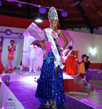 Ms Deria D. Joseph standing tall after being crowned Miss Gorgeous 2015. Photo: John F. Black