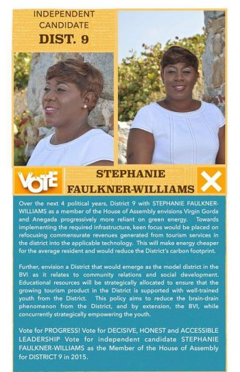 Mrs Faulkner-Williams, who holds a Bachelor of Arts Degree in Economics and International Development Studies from Saint Mary's University, Nova Scotia, Canada, will be contesting as an Independent candidate. Photo: Provided