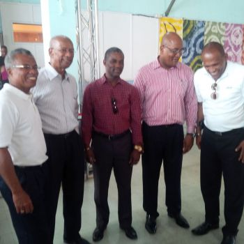Some of the winning NDP candidates. From Left: Dr Hubert O'Neal, Dr D. Orlando Smith, Archibald C. Christian, Ronnie W. Skelton and Mark H. Vanterpool. Photo: VINO