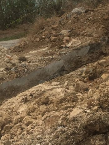 A section of the dug up road. Photo: Provided