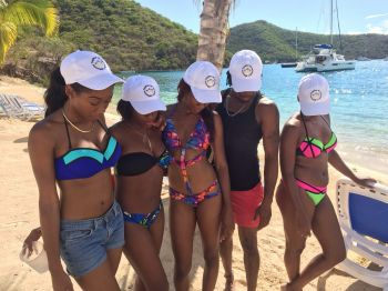 Sisterhood remains strong as together the Miss World BVI contestants assist Miss World BVI Sasha O. E. Wintz achieve her Beauty with a Purpose project. Photo: Provided