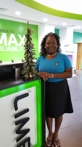 She works at LIME BVI and her job title is Business Sales Support, a position that she has held since October 2011. Photo: Provided