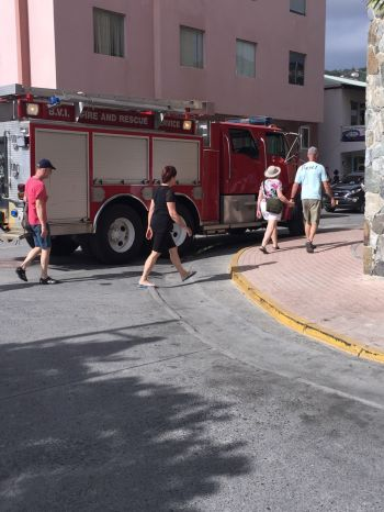 A fire truck which had responded to the emergency. Photo: Team of Reporters