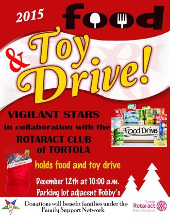 The flier for the toy and food drive. Photo: Provided