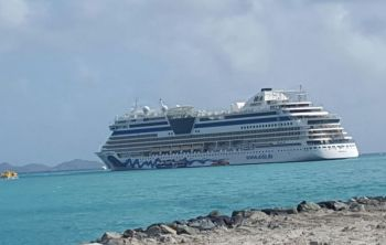 The Aida Luna was scheduled to bring some 2050 passengers to the Virgin Islands. Photo: VINO