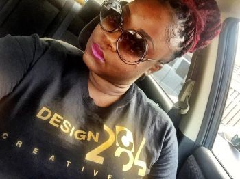 The name of her graphic design business is Design 284 Creative Media. Kadisha also does some photography. Photo: Provided