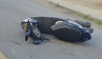 The scooter involved in the accident. Photo: Team of Reporters