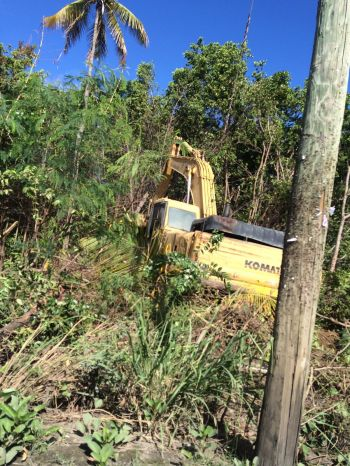 The area in Valley, Virgin Gorda being cleared of mangroves this morning, February 23, 2016. Photo: Team of Reporters