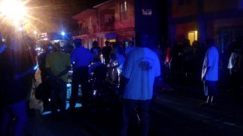 One person has been injured following an accident moments ago tonight March 24, 2016 in front of the Sunday Morning Well in Road Town. Photo: VINO