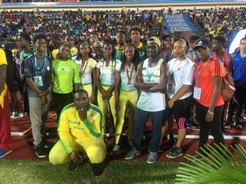 The Virgin Islands' athletes put in an inspiring performance at the 45th Carifta Games in St George's Grenada. Photo: Provided
