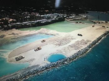 An aerial view of the Nanny Cay Project site at an earlier phase. Photo: Team of Reporters