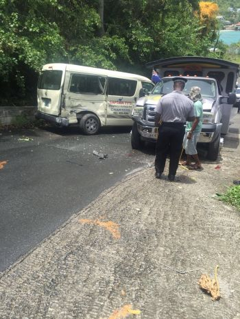 Markings on the road of a previous accident are still visible on the Cane Garden Bay Hill. Photo: Team of Reporters