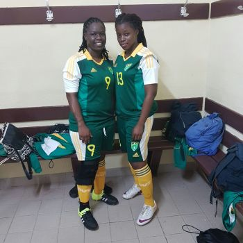 Kia K. Foreman (left) is also a national football player. Photo: Provided
