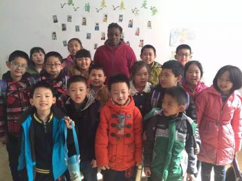Miah with some of her students (7-10 years) while a teacher of English Language in China. Photo: Provided