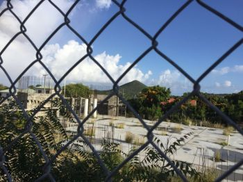 It is not clear what is the exact reason for work on the Nurse Iris O'Neal Medical Centre coming to a halt as Government has been silent. Photo: VINO