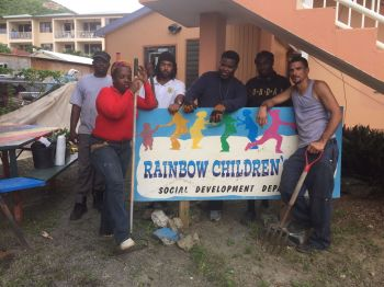 Some members of the Together We Stand group following the clean-up job at the Rainbow Children's Home on November 19, 2016. Photo: Provided