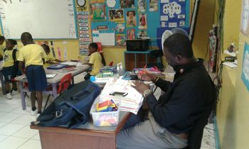 One the job as a Guidance Counselor, something that Jacob E. Edwards finds much gratification doing. Photo: Provided