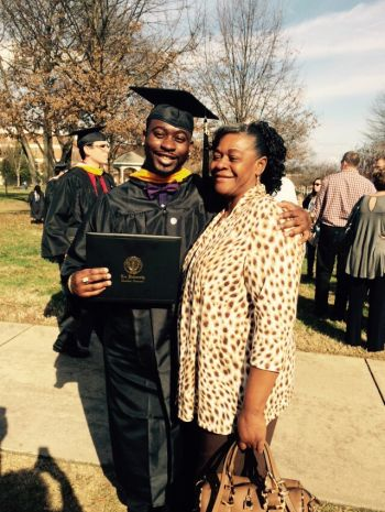Young Professional Jacob E. Edwards with his mom, Dorylin K. Edwards. Photo: Provided