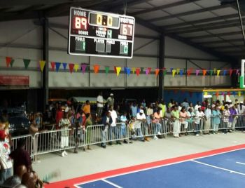 Up 2 Da Time of Virgin Gorda thrilled the home fans with a 89-67 points win over Tortola's East Rockers in the final of the 2016 Virgin Gorda Summer Jam at the Jeffrey Caines Arena on Virgin Gorda on December 10, 2016. Photo: VINO