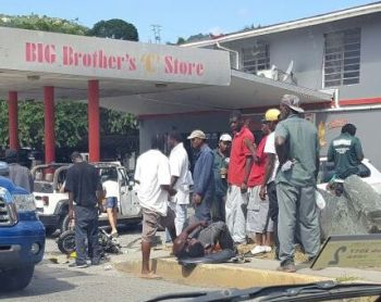 The accident today, January 17, 2017 took place in the vicinity of the Big Brother's Gas Station in Baughers Bay. Photo: Team of Reporters