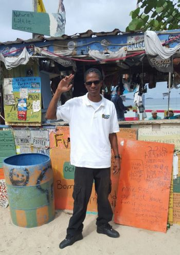 The still new comer to the taxi business, Kaleem J. Scatliffe, serves the local line as well as tourists and enjoys meeting and interacting with new people every day. Photo: Provided