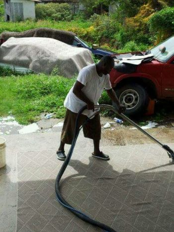 Mr Lionel M. Richardson also owns a cleaning business. Photo: Provided