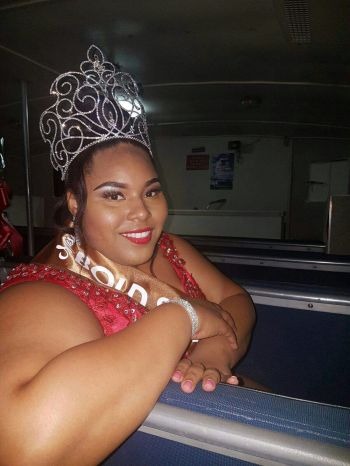 The new Miss Bold & Beautiful, 22 year old Sylvanna L. Charles, a teacher of English at Elmore Stoutt High School, and is a veteran in pageant competition, as this is her ninth pageant and fifth crown. Photo: Provided