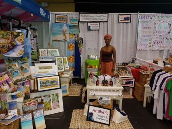 An arts and craft booth by Virgin Islander Carol M. Smith. Photo: VINO