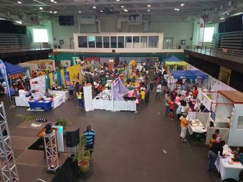The 2-day Buy BVI Trade Show is being held at the Multi-Purpose Sports Complex in Road Town. Photo: VINO