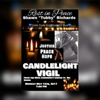 A candlelight vigil will be held for Mr Shaun H. Richards aka Tubby on May 15, 2017. Photo: Team of Reporters