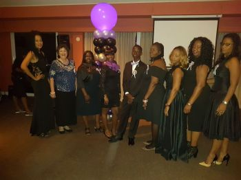 Some of the members and supporters of the Jaleel Cameron Foundation. Photo: VINO