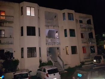 The apartment in Greenland, Tortola where Sherika Nelson was killed on June 10, 2017. Photo: VINO