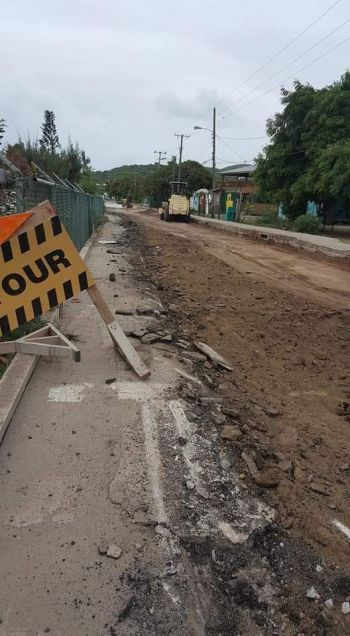 The state of Lee Road on Virgin Gorda today, June 20, 2017. Photo: Facebook